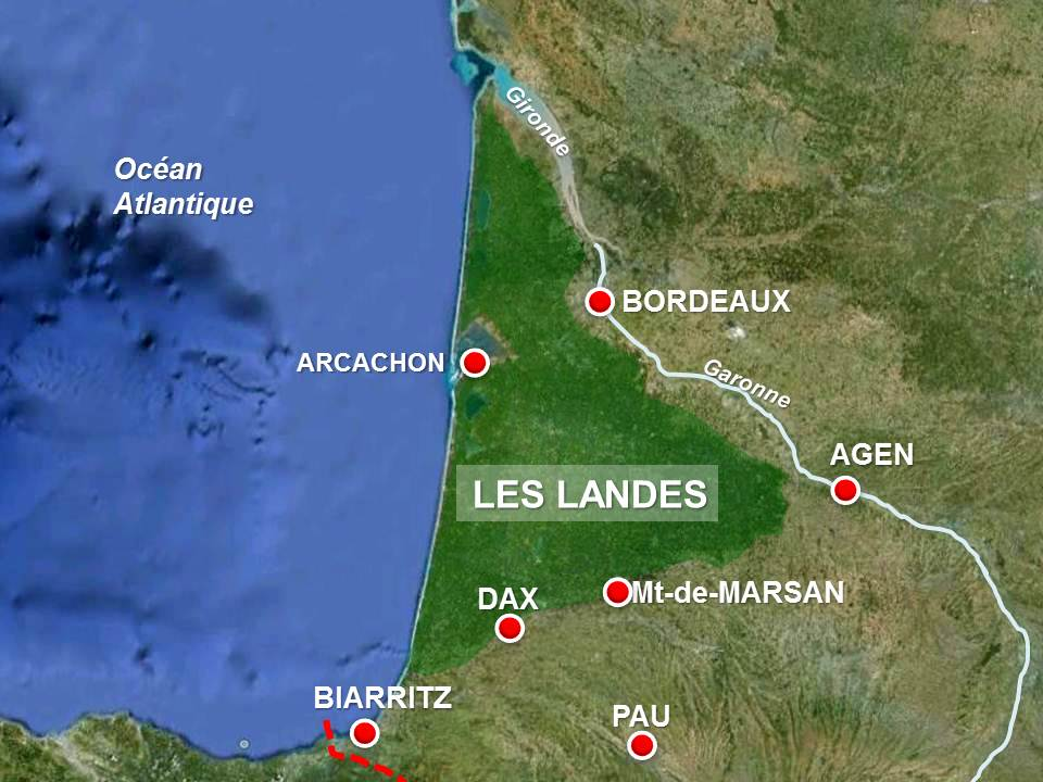 Landes Map By French Moments French Moments