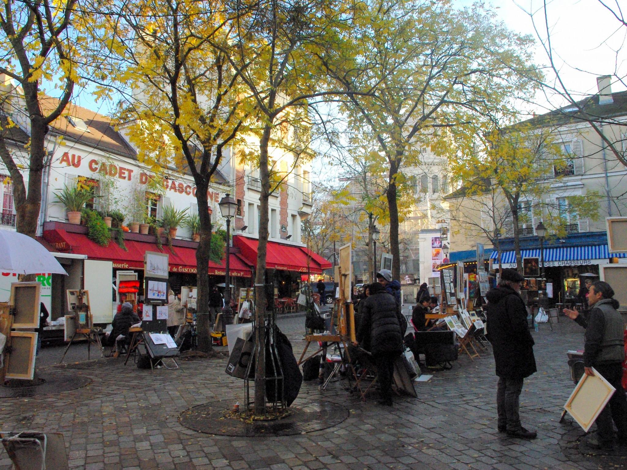 Place Du Tertre Montmartre French Moments