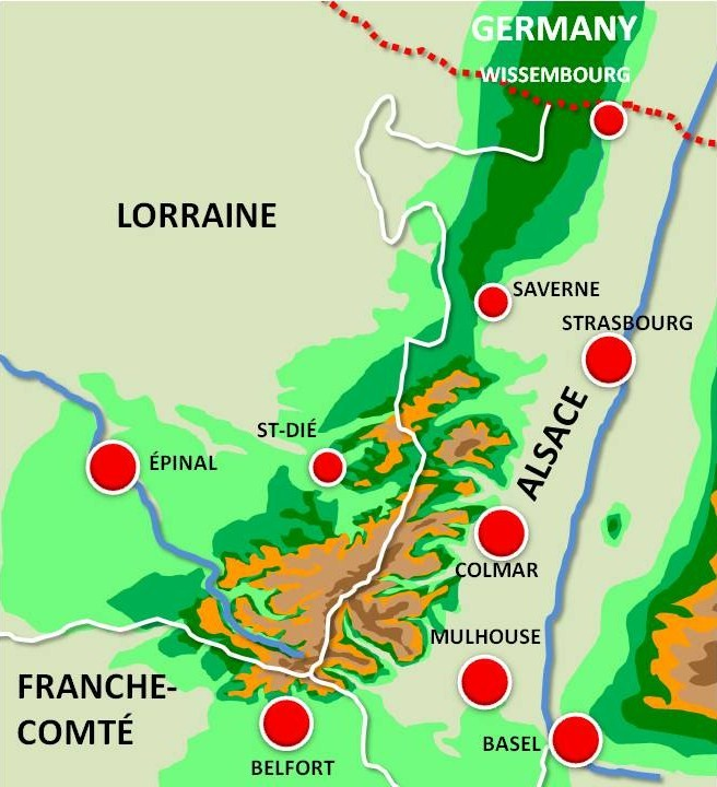 Situation Map of Mulhouse © French Moments