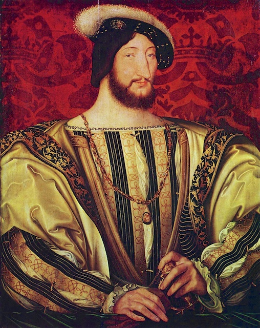 Francis I of France (François 1er) painted by Jean Clouet circa 1530