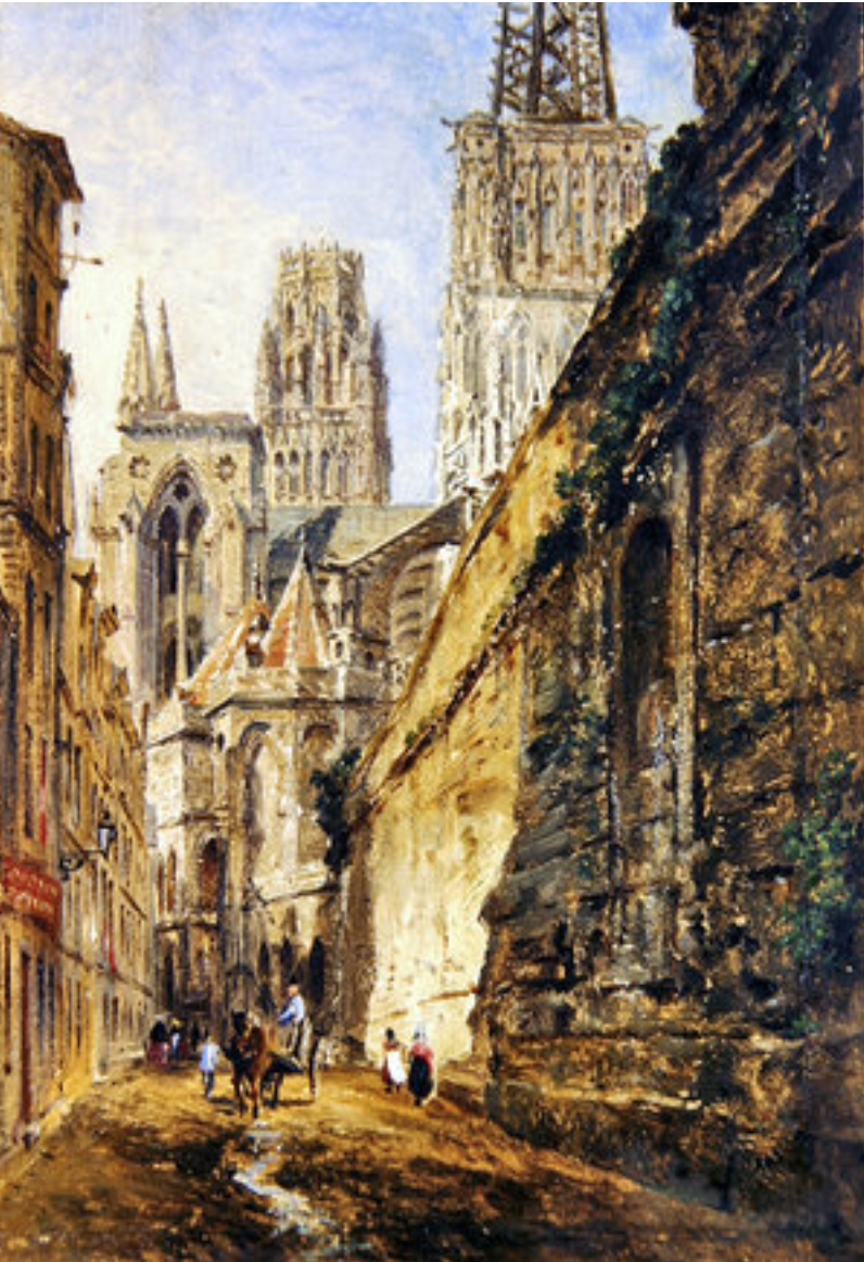 Chevet of Rouen Cathedral by William Parrot