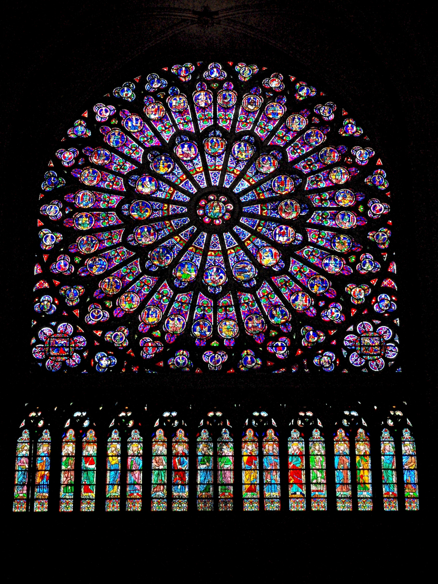The North Rose Window of Notre-Dame de Paris © French Moments
