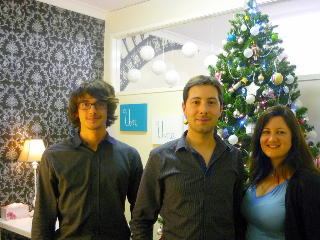 Antoine, Pierre and Rachel in Sydney (2011) © French Moments