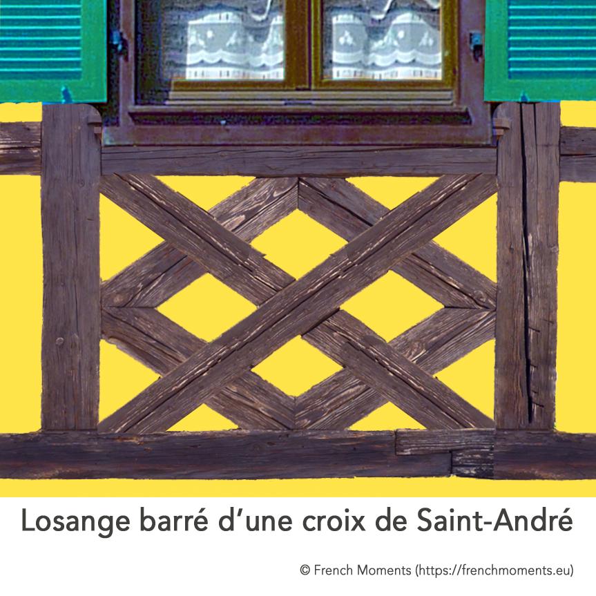 Alleges Fenetres Maison Alsacienne Losange barré d'une croix de Saint-André 02 © French Moments