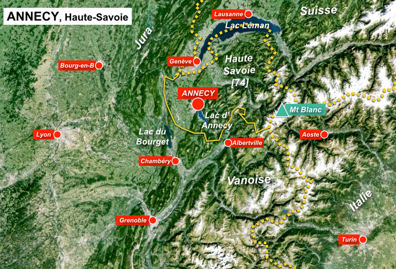 Annecy Situation Map