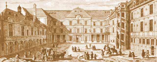 Blois Castle in the 18th C by Jacques Rigaud (1681-1754)