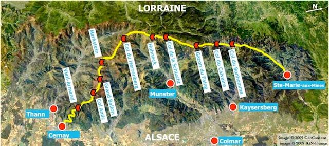 Map of Route des Crêtes