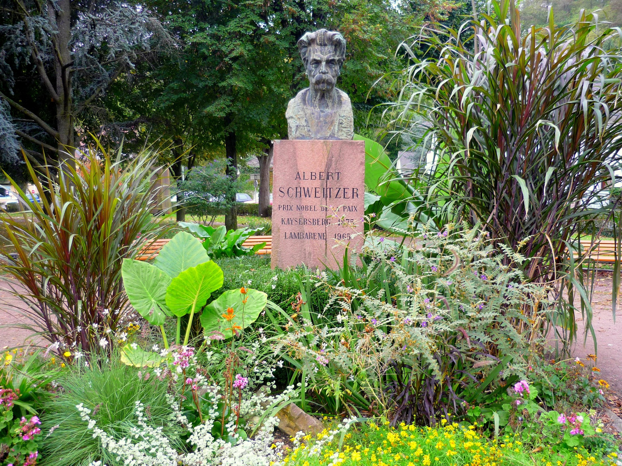 Memorial in honour to Albert Schweitzer in Kaysersberg © French Moments