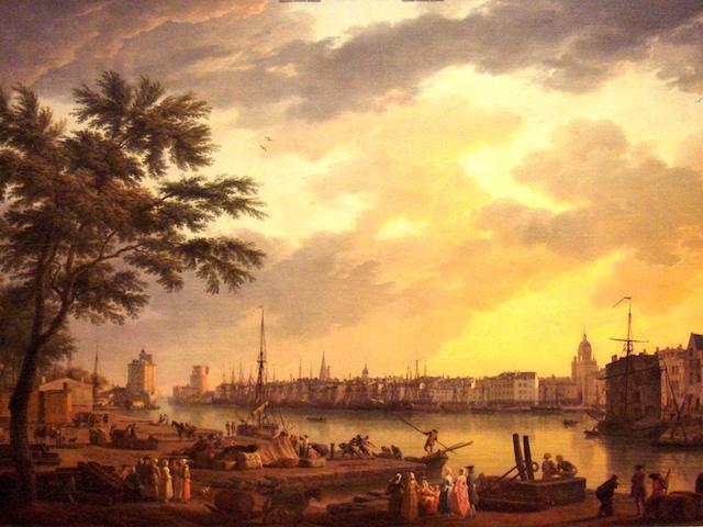 The harbour of La Rochelle in 1762