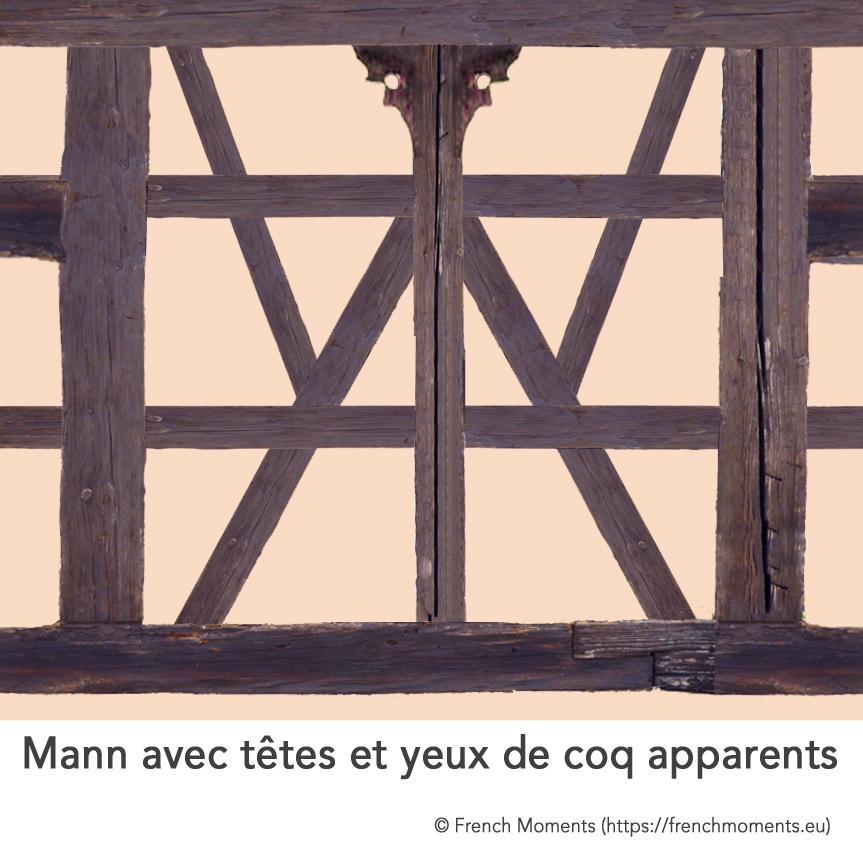 Maison Alsacienne Mann et coq © French Moments