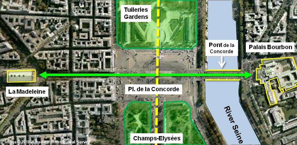 Place de la Concorde Paris Historical Axis by French Moments