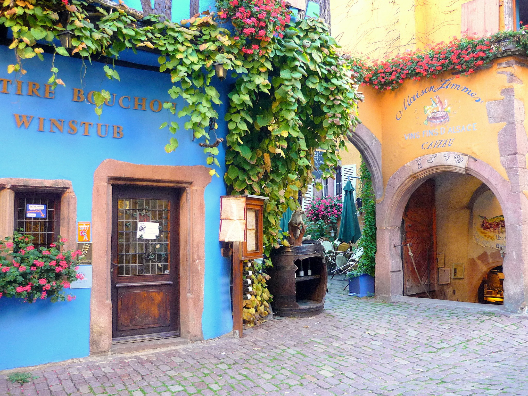 Winegrowers' houses in Riquewihr © French Moments