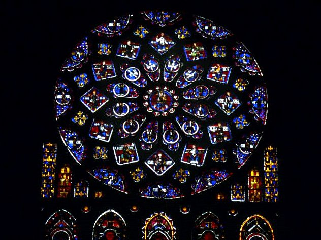 rose window of the north transept chartres cathedral university of