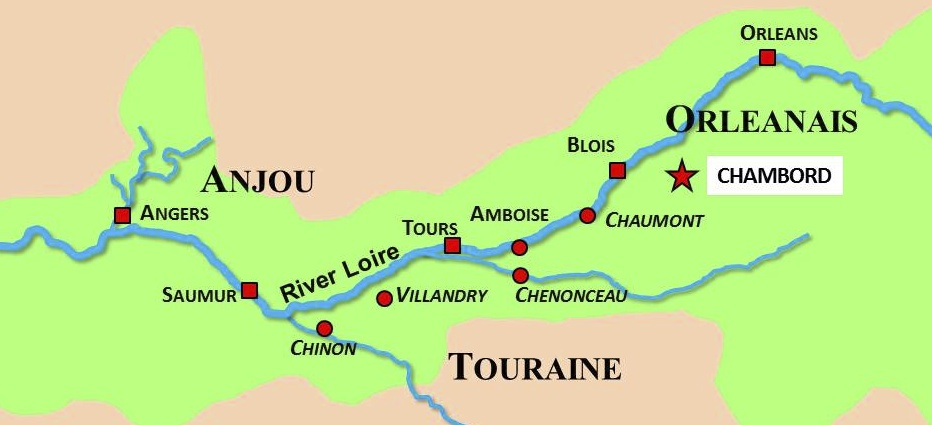 Situation Map of Chambord © French Moments