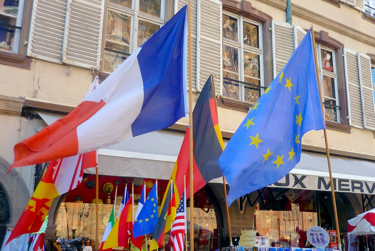 European flags in Strasbourg © French Moments