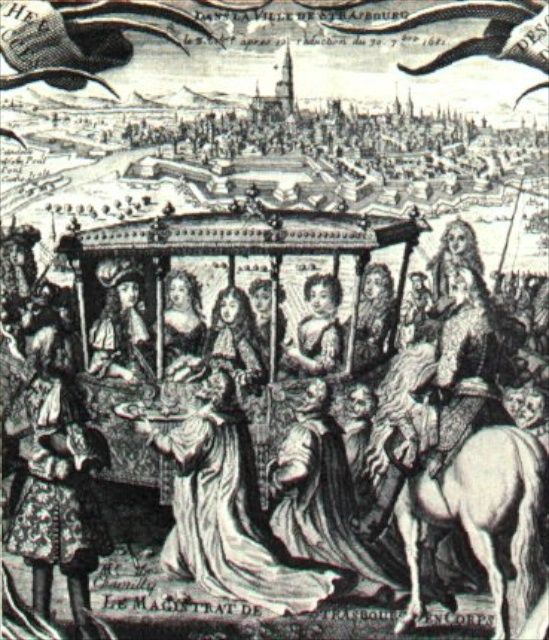 Louis XIV approaching Strasbourg
