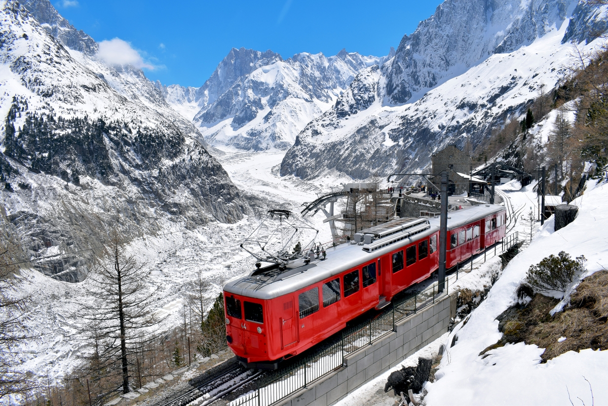 The Montenvers Train arriving at the Mer de Glace, Chamonix Mont Blanc © French Moments