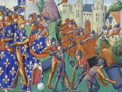 The French fighting the English at Bordeaux