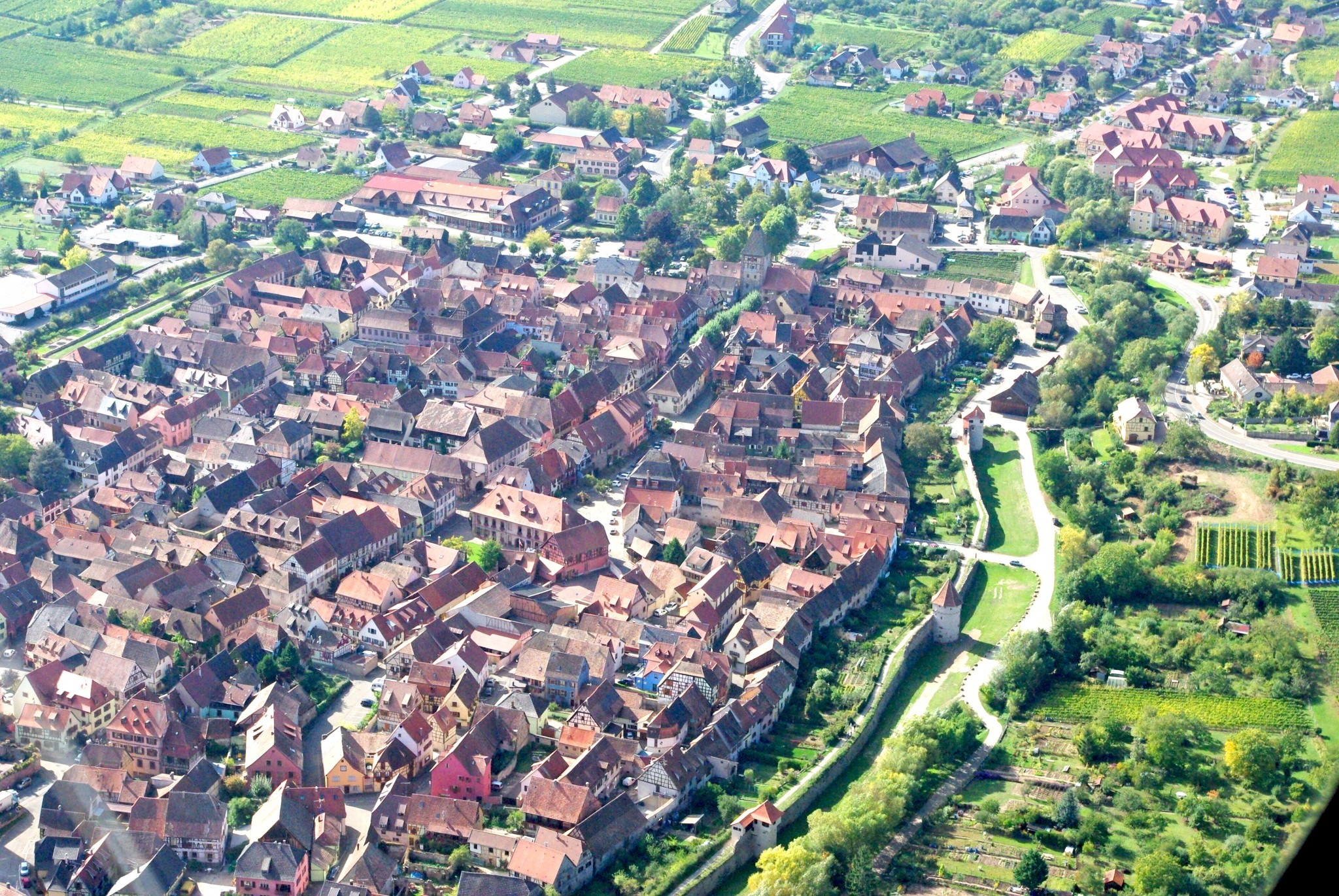 Village of Bergheim Bergheim from above © French Moments