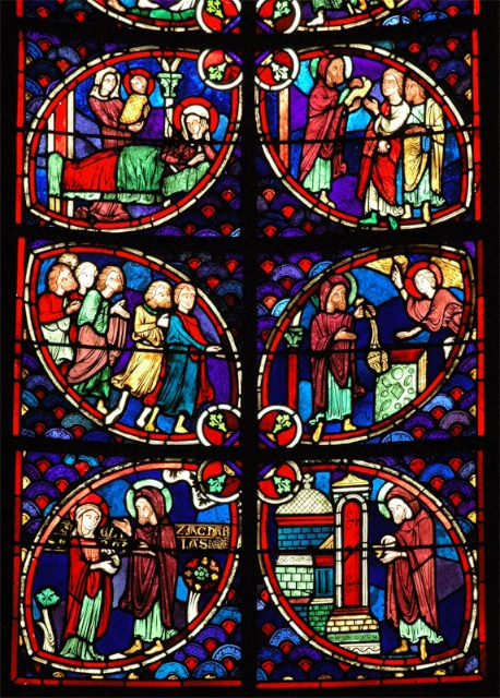 St John Baptist Stained Glass Windows, Bourges Cathedral © Baldiri, Creative Commons (CC-BY-SA-3