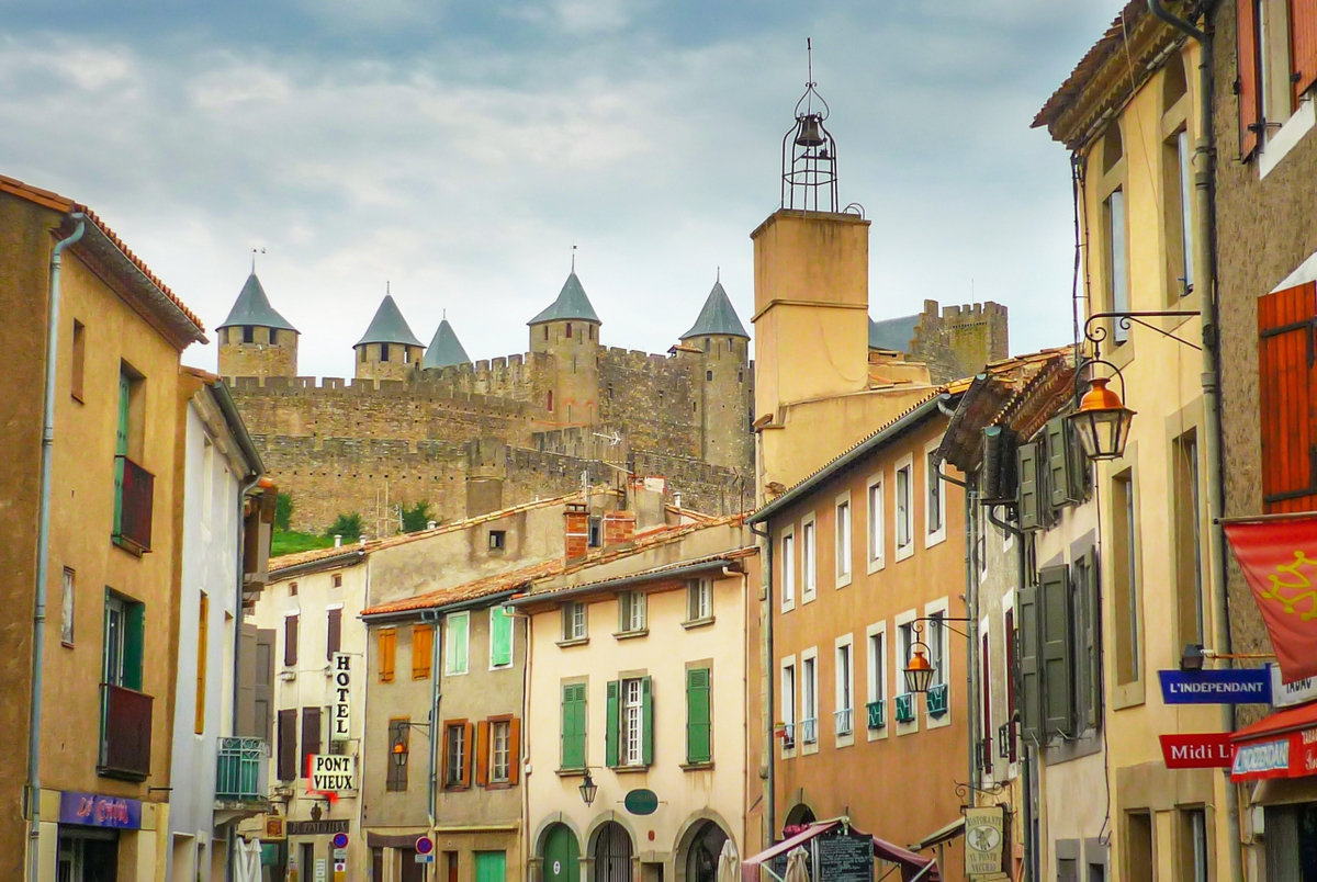 Rue Trivalle and the Cité of Carcassonne © French Moments