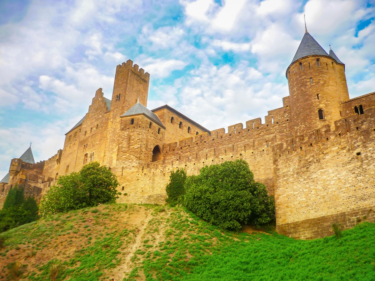 Cité of Carcassonne - The Counts' castle late afternoon © French Moments