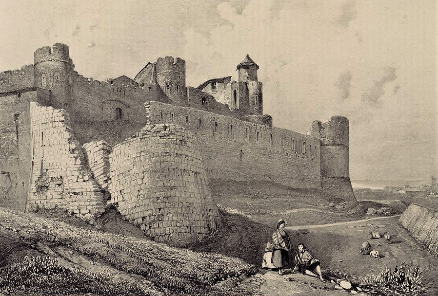 The ruins of the Cité of Carcassonne in 1834