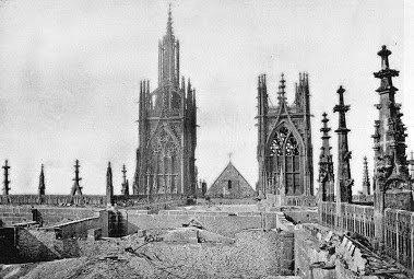 The cathedral's roof after the fire