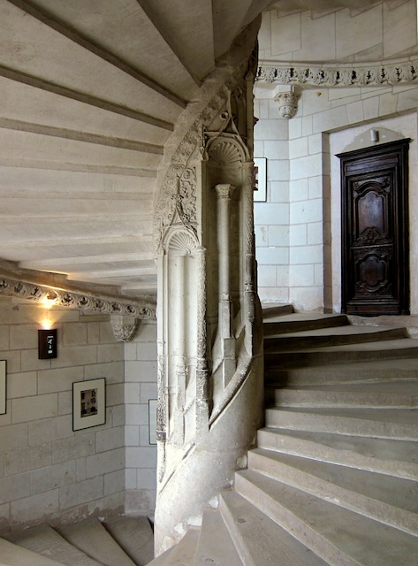 Staircase in Chaumont Castle © Manfred Heyde - Creative Commons (CC-BY-SA-3.0)