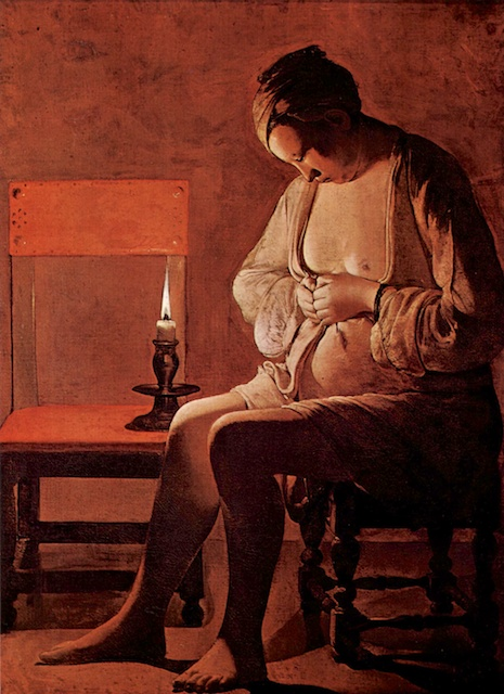 """La Femme à la puce"", painting from Georges de la Tour, Lorraine Historic Museum, Nancy"