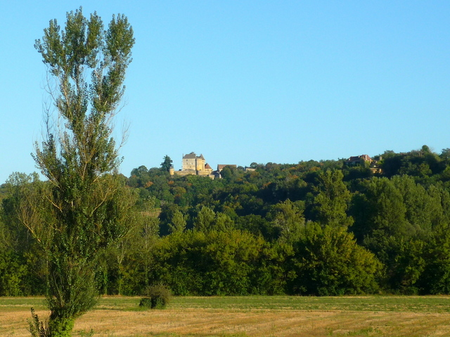 Fénelon Castle viewed from the D703 road at Calviac © French Moments