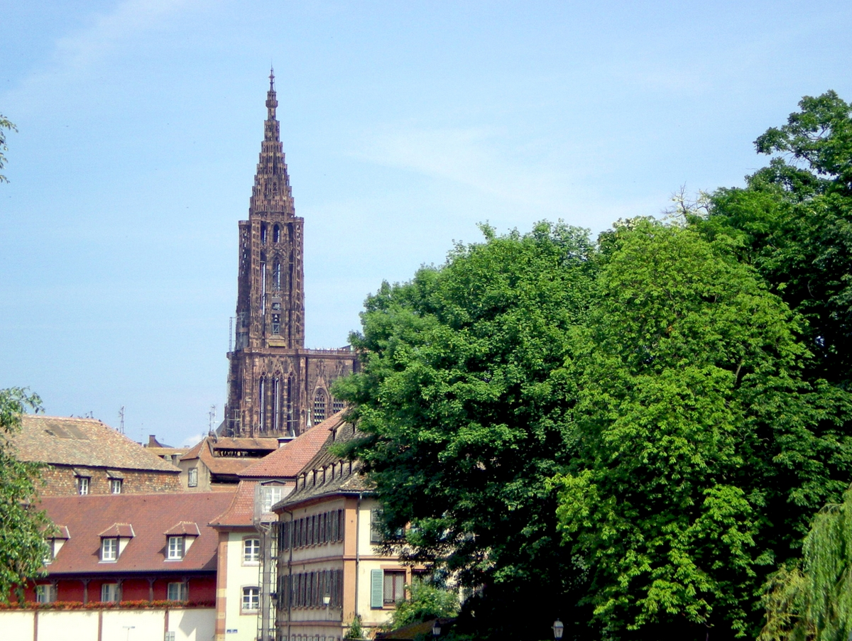 The cathedral seen from the Petite France district © French Moments