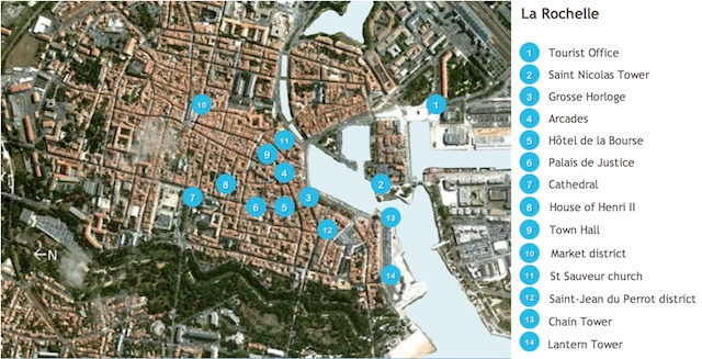 La Rochelle Map by French Moments