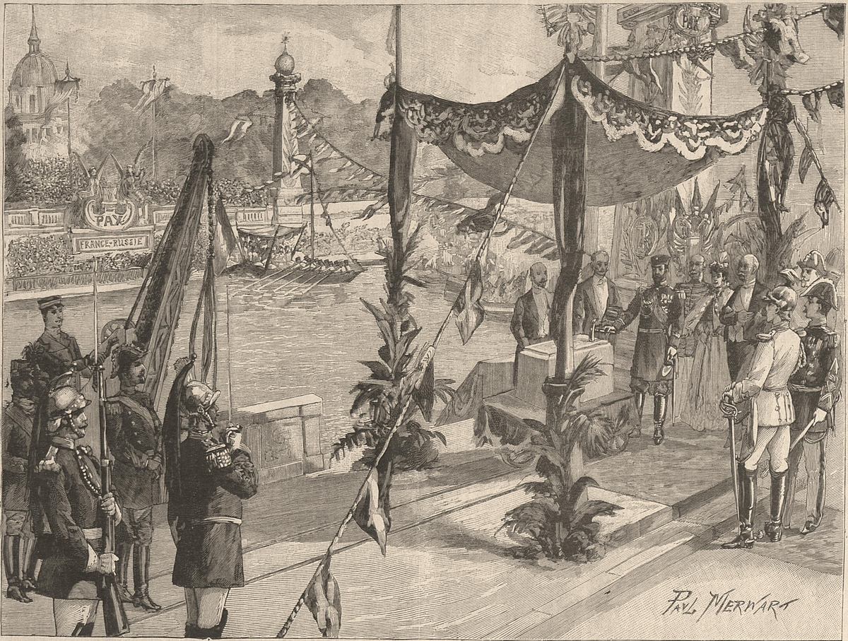 Laying of the first stone by Tsar Nicholas II in 1896