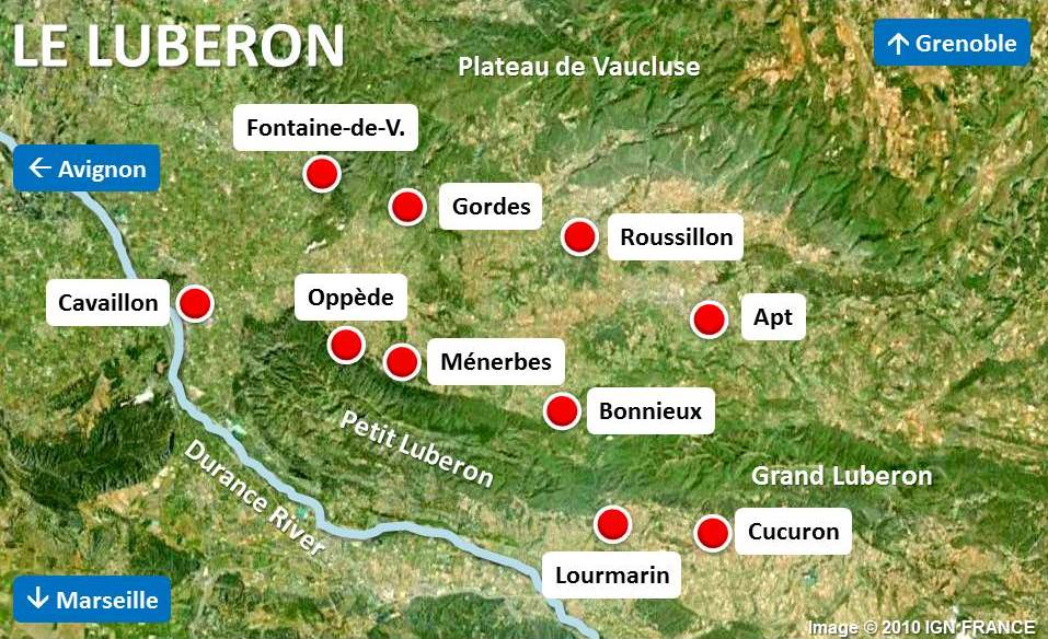 Map of Luberon by French Moments