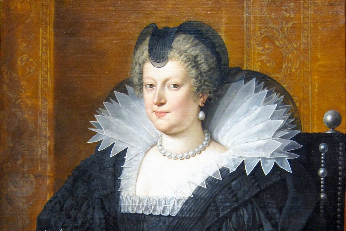 Maria de' Medici in 1616 by Pourbus