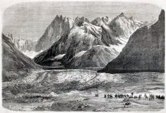 Napoleon III at the Mer de Glace in September 1860