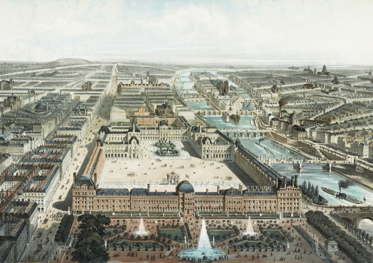 The Palais des Tuileries and the Louvre in 1850