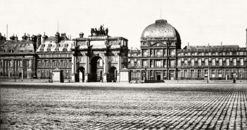 The vast square in front of the Tuileries and the Arc du Carrousel in 1856