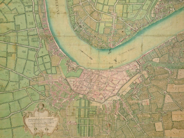 Map of Bordeaux by Hippolyte Matis