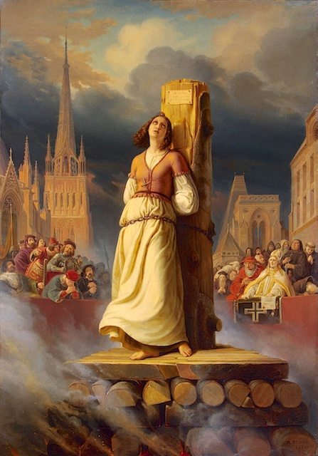 Joan of Arc's Death at the Stake, painting by Hermann Anton Stilke (1843)