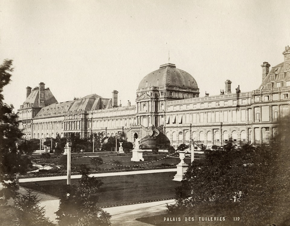 The Palais des Tuileries -West Facade (onto the gardens) in 1867