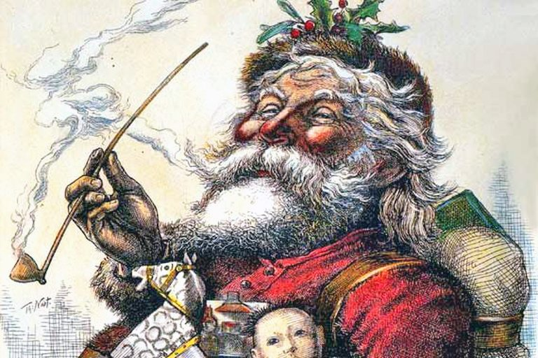 Portrait of Santa by Thomas Nast, published in Harper's Weekly, 1881