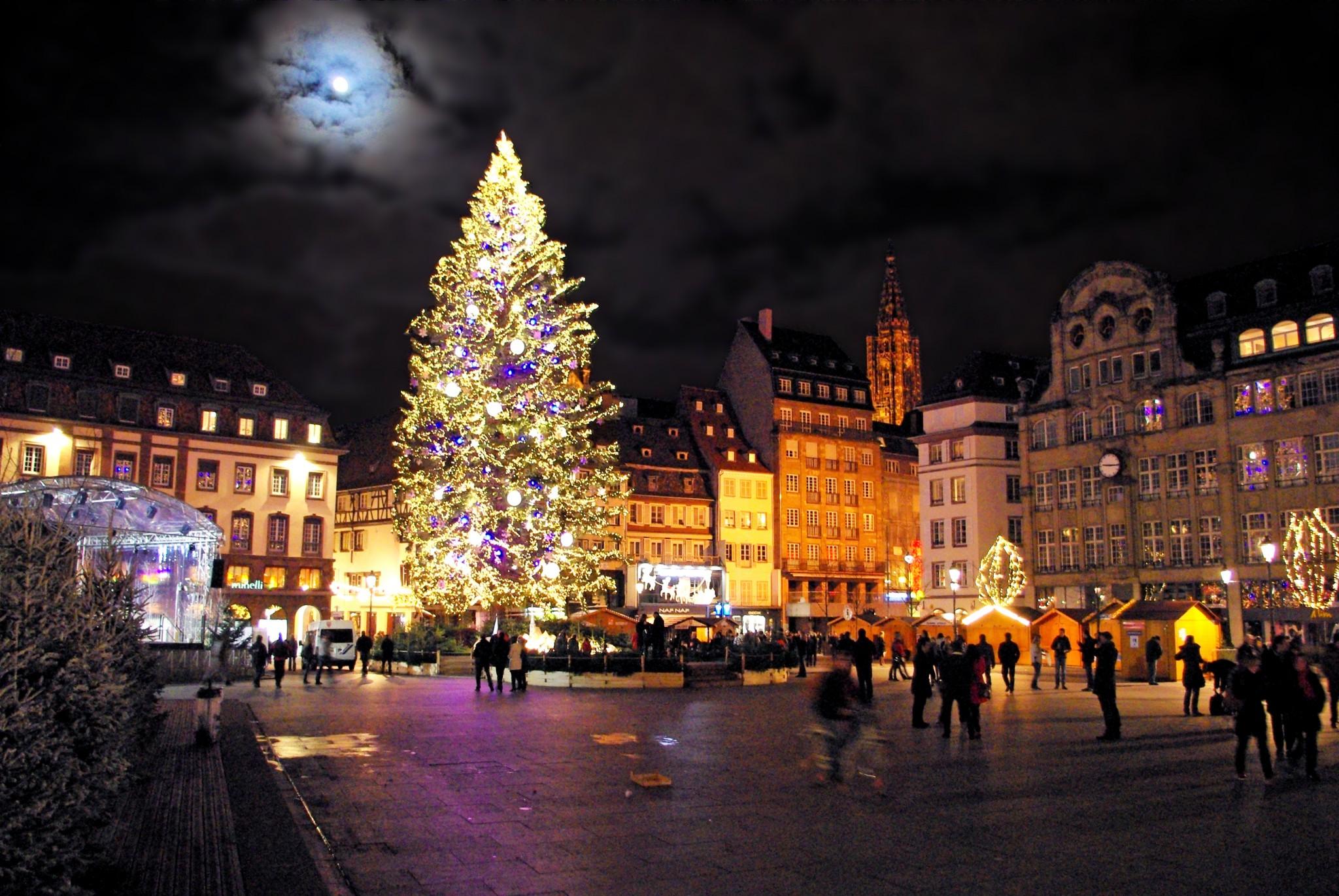 strasbourg christmas place tree french kleber market moments