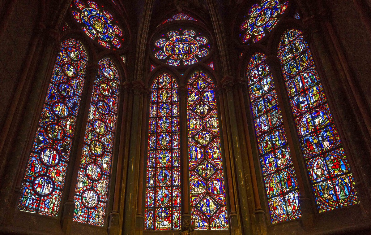 Stained-glass window in Beauvais cathedral - Stock Photos from Isogood_patrick - Shutterstock