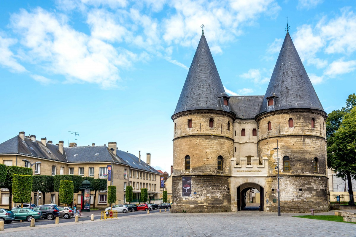The gate to the bishops' palace, Beauvais - Stock Photos from milosk50 - Shutterstock