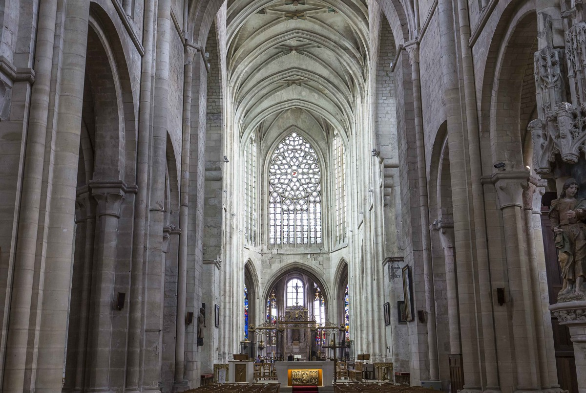 The nave of St Etienne Church, Beauvais - Stock Photos from Isogood_patrick - Shutterstock