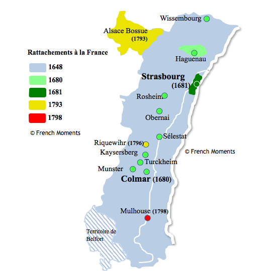 Alsace Map History © French Moments