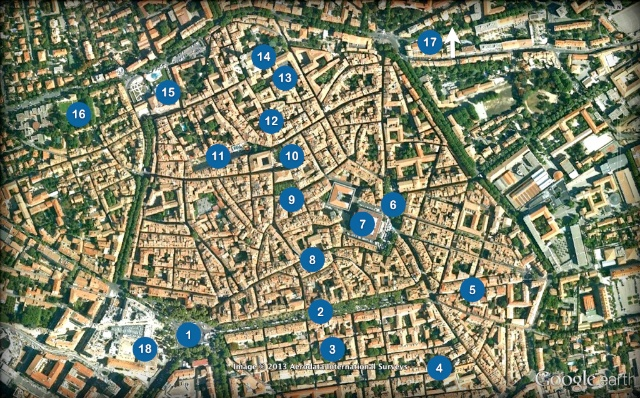 Aix-en-Provence Old Town Map