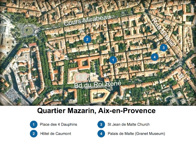 aix en provence map quartier mazarin french moments. Black Bedroom Furniture Sets. Home Design Ideas